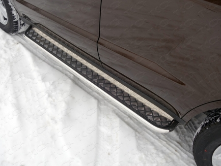 Geely Emgrand X7 2015- Пороги с площадкой 42,4 мм